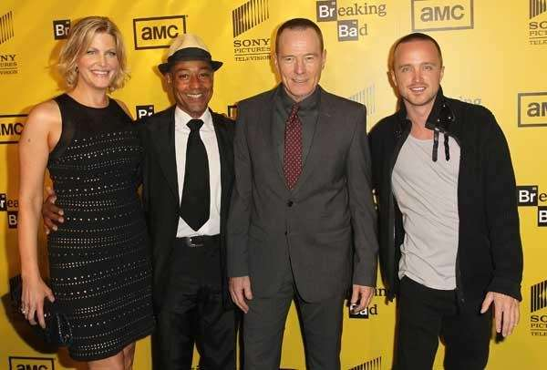 (L-R) Actress Anna Gunn and actors Giancarlo Esposito,