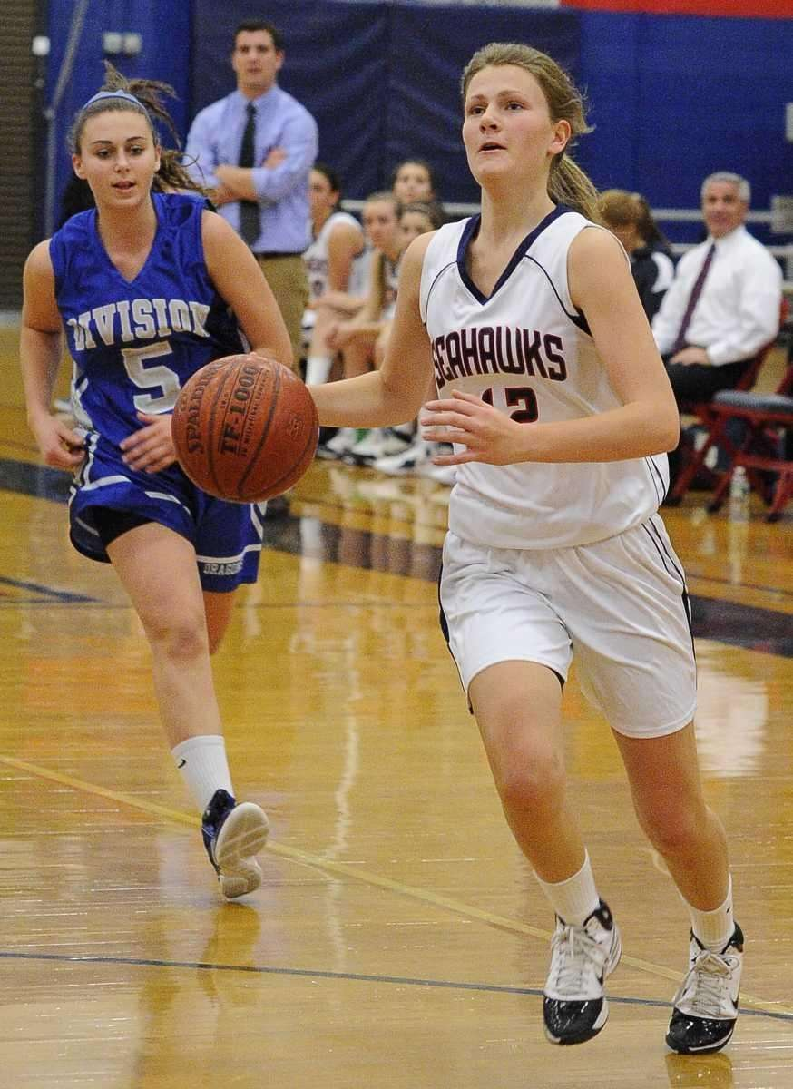 Cold Spring Harbor's Kelly Vassallo drives to the