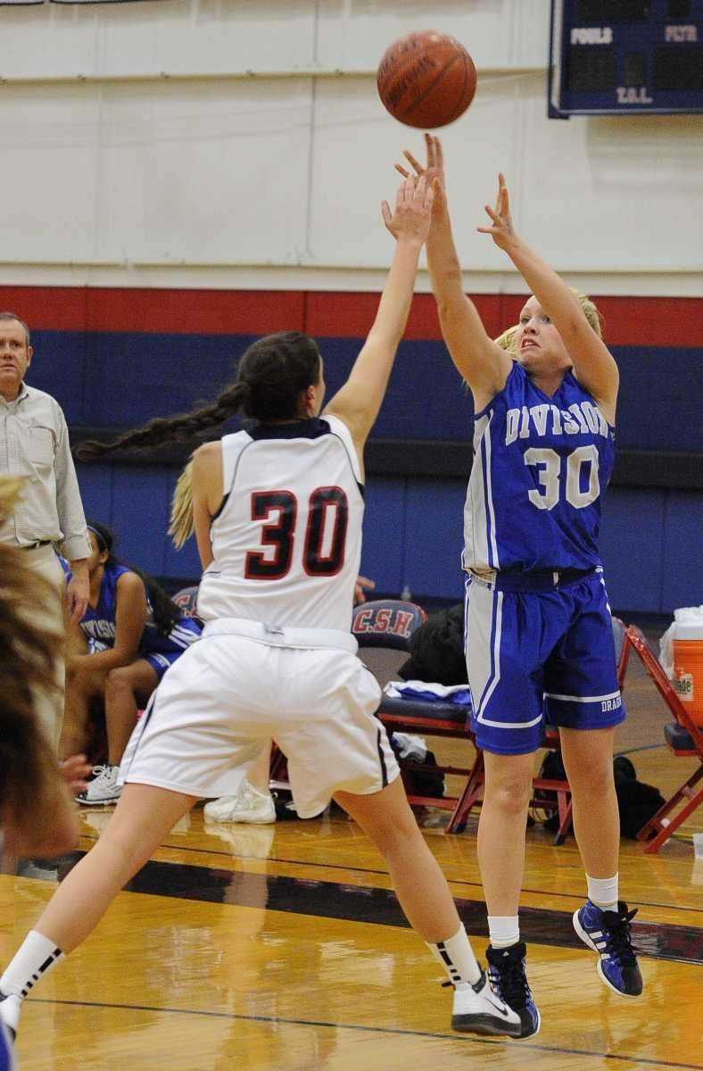 Division's Laura Stuart shoots past Cold Spring Harbor's
