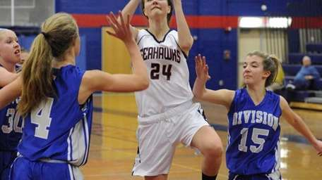 Cold Spring Harbor's Katie Durand attempts a shot