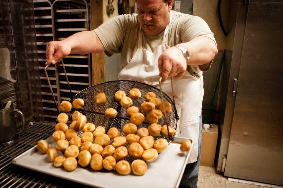 Baker Evan Zucker makes special Hannukah doughnuts, sufganiyots,