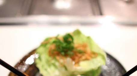 The chicken lettuce wraps at DoraNonnie Tapas and