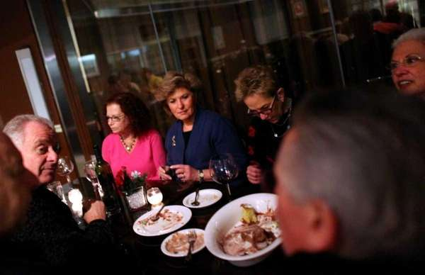 Patrons dine at DoraNonnie Tapas and Wine Bar
