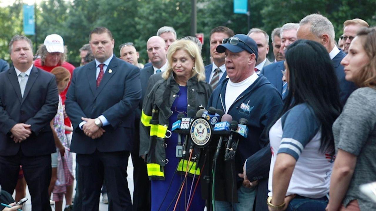 New York lawmakers, first respondersand 9/11 victim advocates