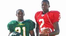 Floyd's Stacey Bedell, left, and Freeport's Isaiah Barnes