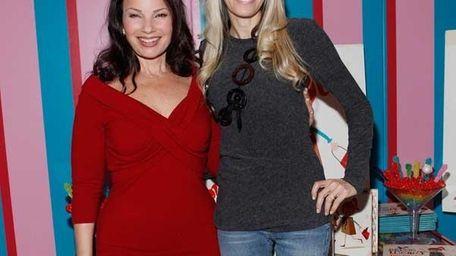 Actress Fran Drescher (right) and