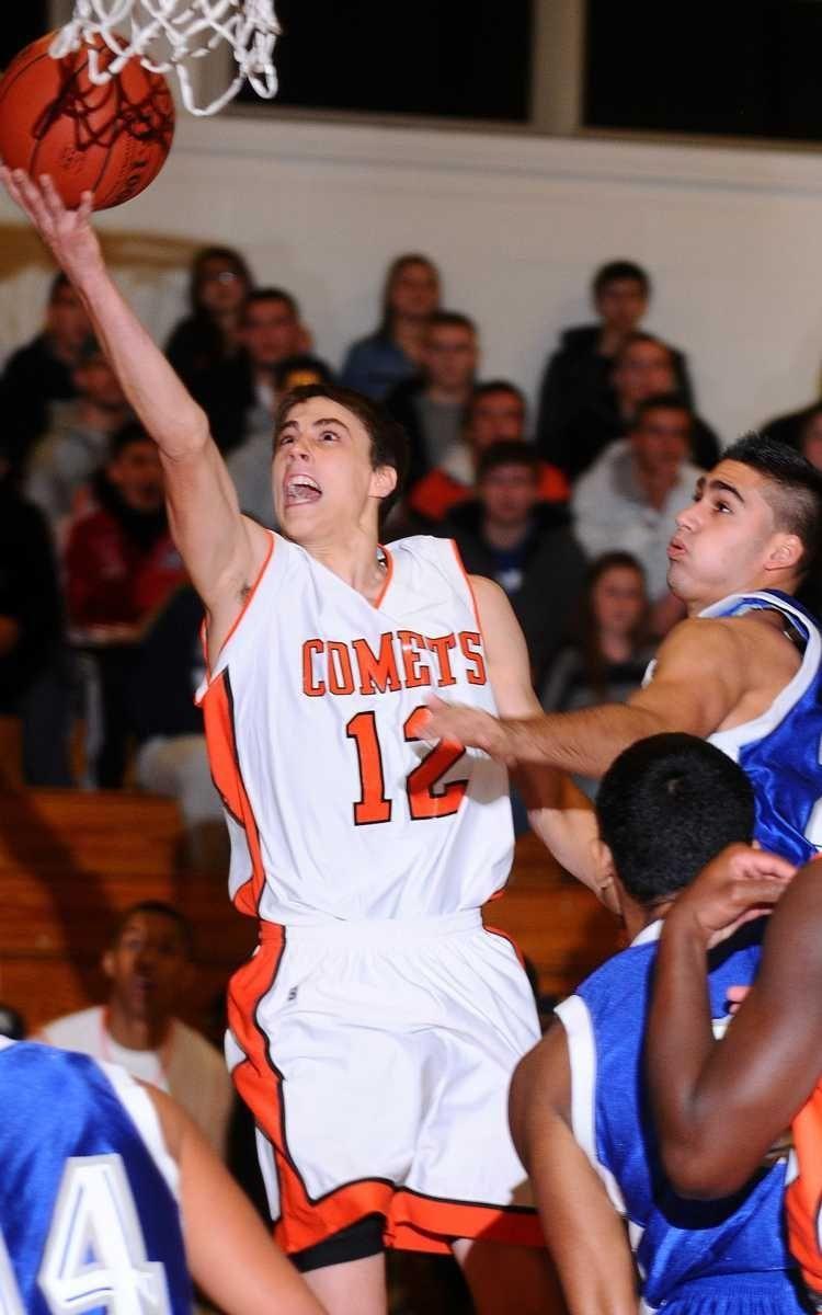 Hicksville High School point guard #12 Nick Petrucelli