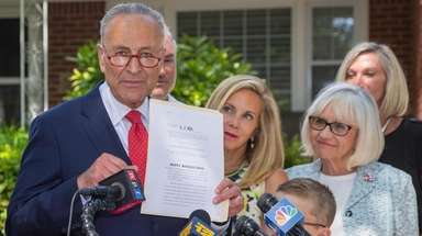 Senate Minority Leader Chuck Schumer is renewing his