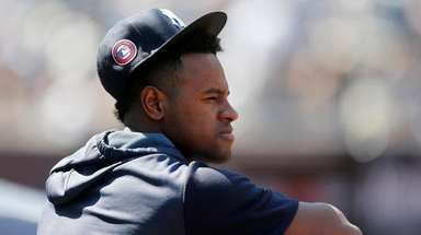 Luis Severino of the New York Yankees looks