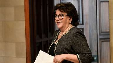 State Education Commissioner MaryEllen Elia arrives Monday at