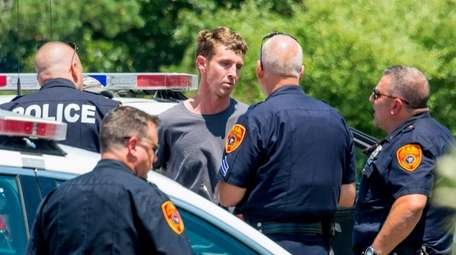 Keith Clancy, 32, is taken into custody Sunday