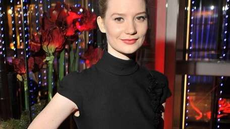 Actress Mia Wasikowska at the after party for