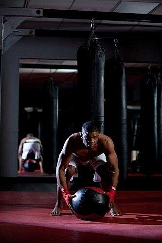 Paul Daley puts in work training for his