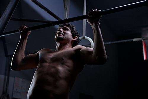 Strikeforce lightweight champion Gilbert Melendez trains in the