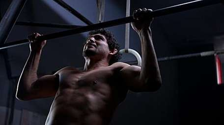 Strikeforce lightweight champion Gilbert Melendez trains in the