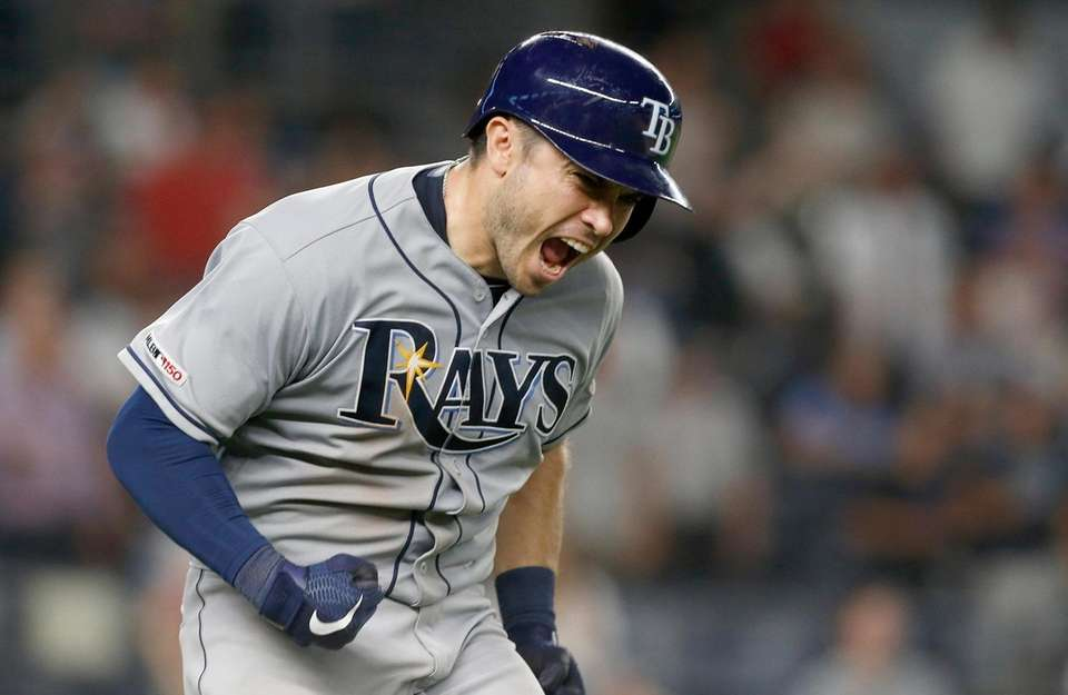 Travis d'Arnaud #37 of the Tampa Bay Rays