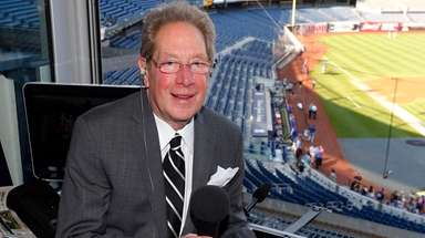 Yankees radio broadcaster John Sterling before a game