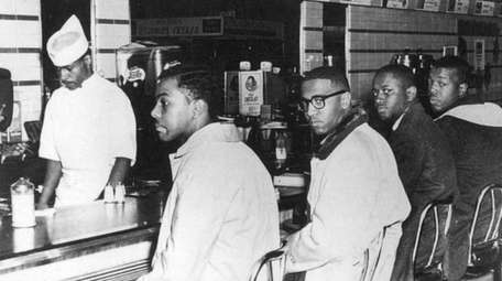 Students Joseph McNeil, from left, Franklin McCain, Billy