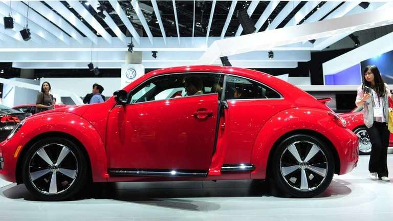 A VW turbo Beetle vehicle is displayed at