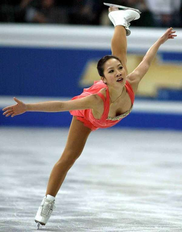 Michelle Kwan from the United States performs her