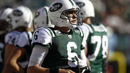 Mark Sanchez #6 of the New York Jets.