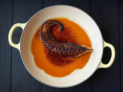 Gullo octopus is imported from Spain, June 10,