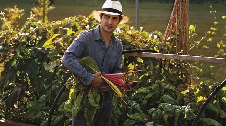 Zac Posen at his parent's farm in Bucks