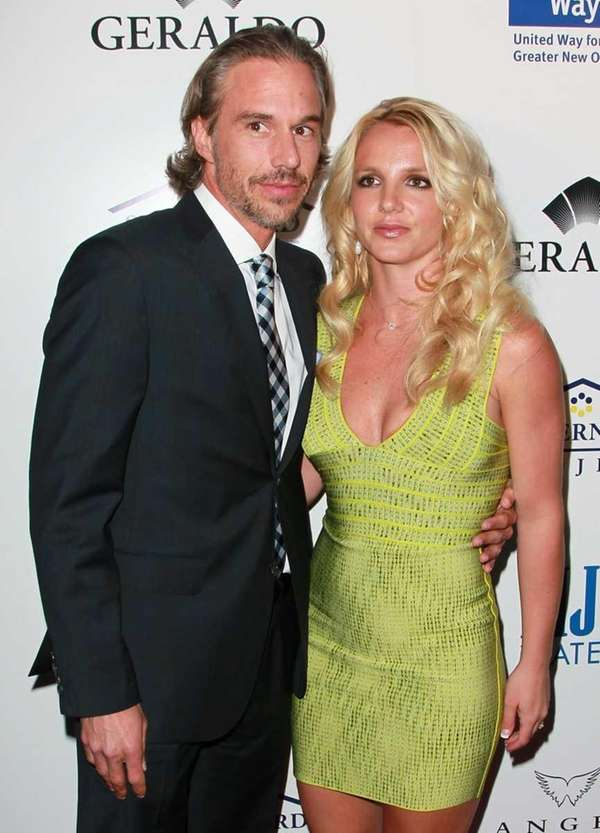 Recording artist Britney Spears and agent Jason Trawick