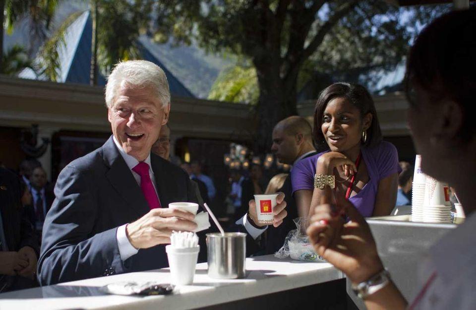 Former President Bill Clinton established the William J.