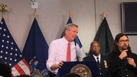 New York City Mayor Bill de Blasio on