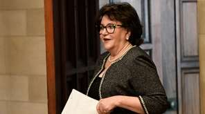 New York State Education Commissioner MaryEllen Elia, arrives