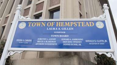 Hempstead Town Hall is shown on March 12,