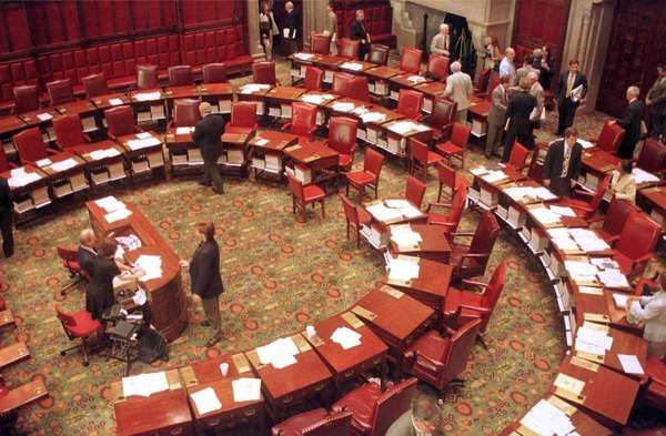 The chambers of the New York State Senate