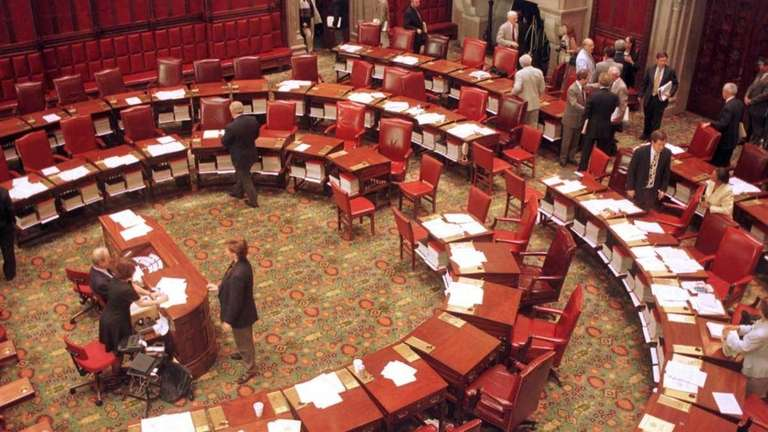 The chambers of the New York State Senate
