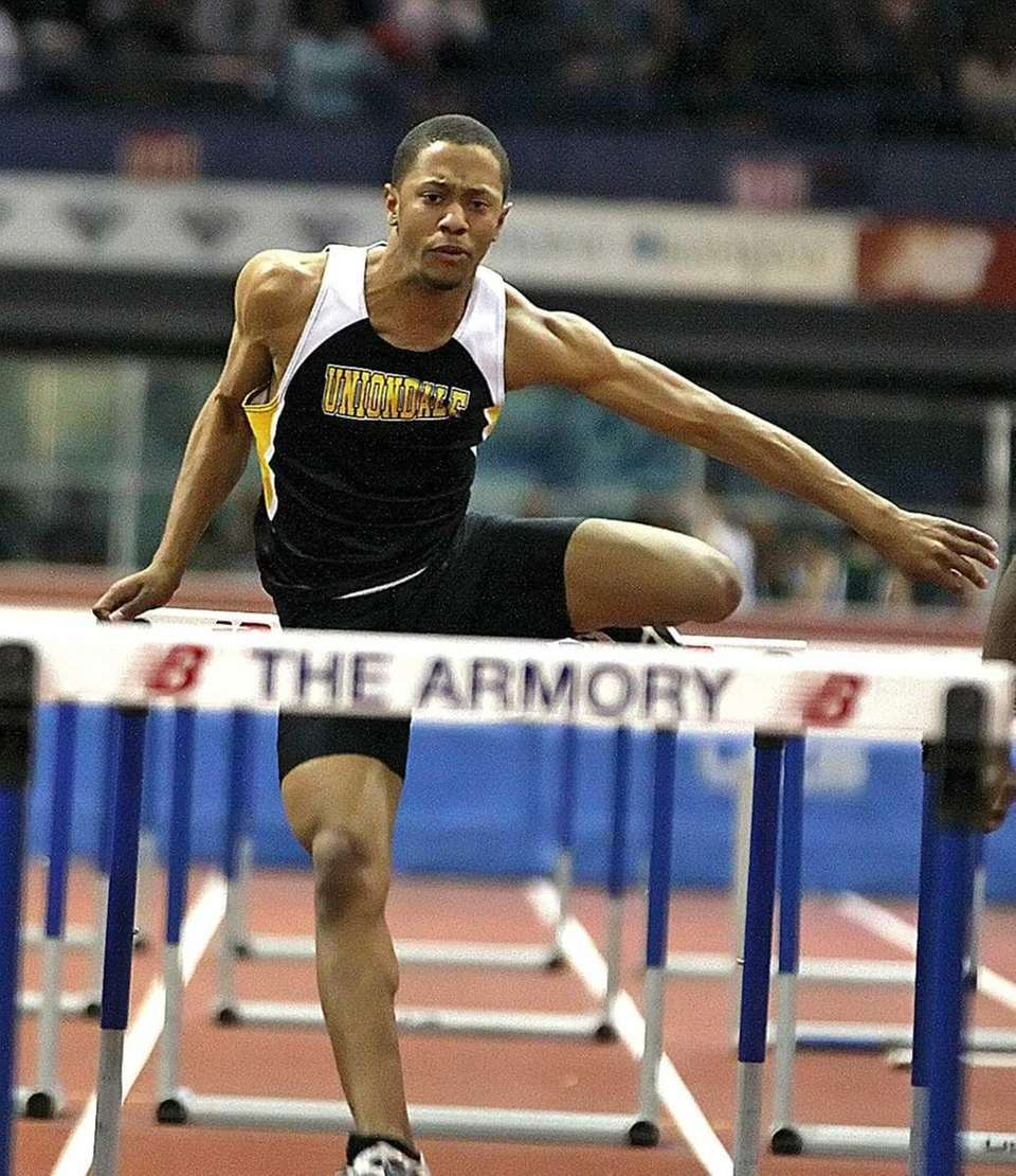 Uniondale's Chris Armour in the boy's 55m high