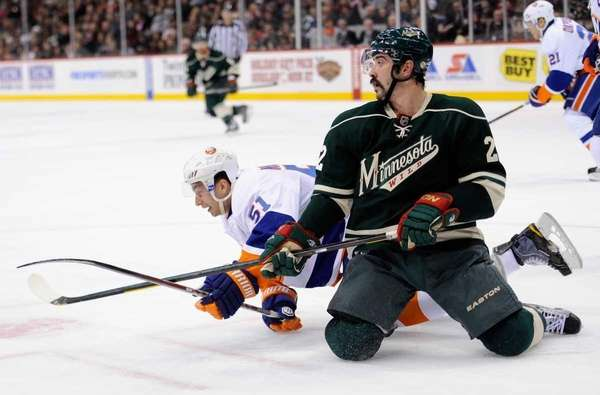 Cal Clutterbuck #22 of the Minnesota Wild and