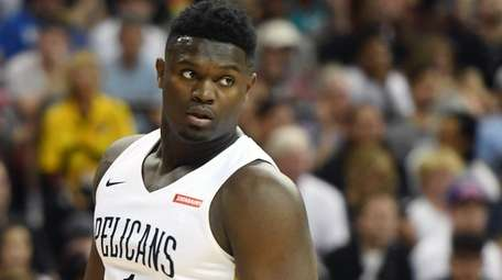 Zion Williamson of the New Orleans Pelicans against