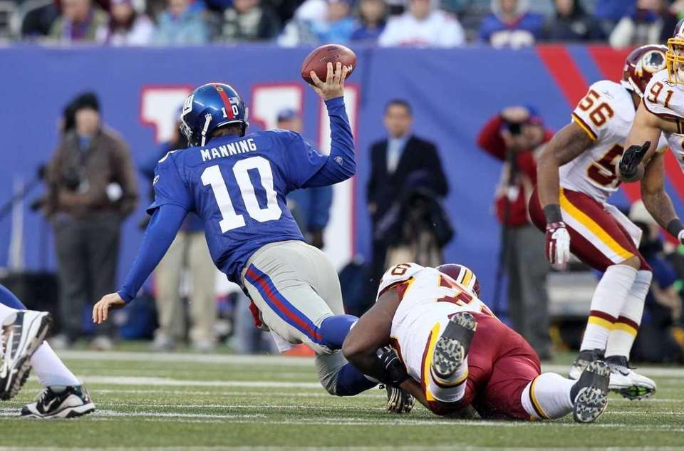 Eli Manning of the New York Giants is