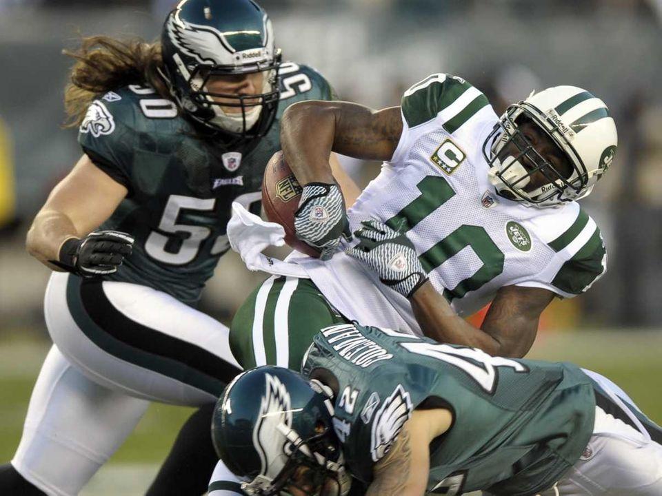 New York Jets receiver Santonio Holmes loses control