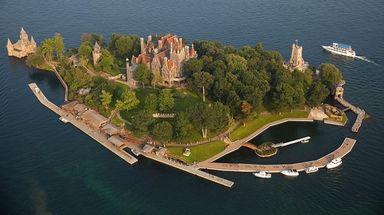 Majestic Boldt Castle is on Heart Island in