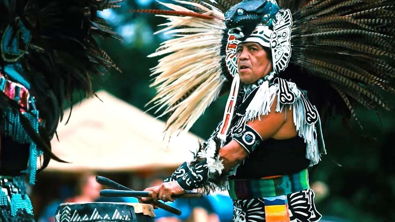 The Paumanauke Pow Wow, an American Indian celebration