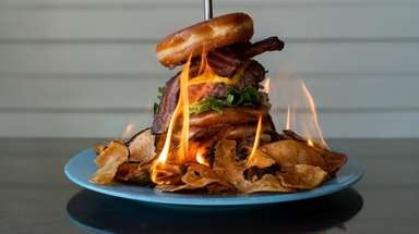 The Inferno burger at Prohibition Kitchen in Port