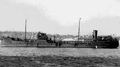 The British oil tanker Coimbra in 1941.