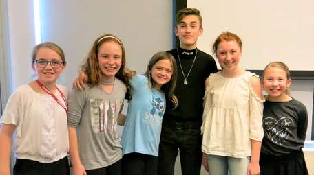 Singer Johnny Orlando with Kidsday reporters Isabella DeCunzo,