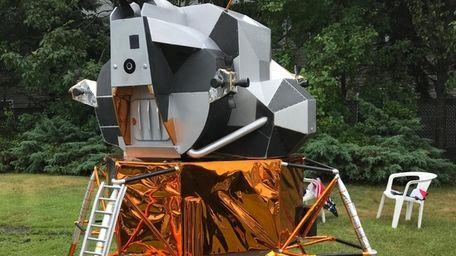 A replica of the lunar module at the