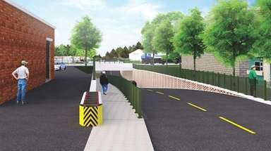 A rendering of the new overpass at Urban