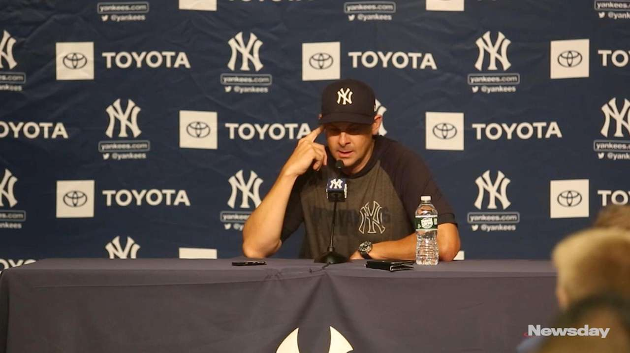 Yankees manager Aaron Boone talks about his second