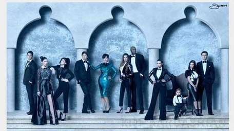 Kardashian-Jenner holiday card photo shot by Nick Saglimbeni.
