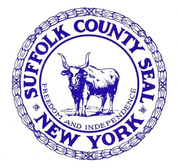 The Suffolk County seal.