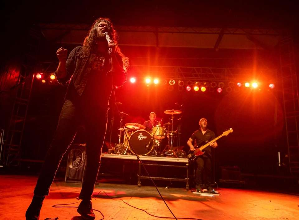 The band Taking Back Sunday performs at the